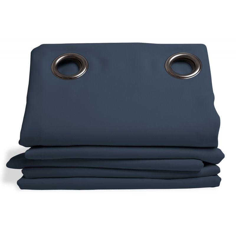 rideau thermique et occultant bleu ardoise rideaux moondream