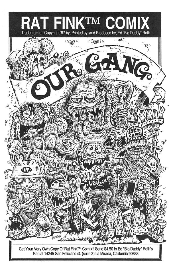 Rat Fink Comix OUR GANG By Ed BIG DADDY Roth Comic Books