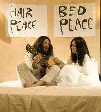 Graham Porter and Sharon Marquez in John/Yoko Bed Piece 2009