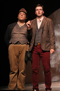 Jim Armstrong and Andrew Knowlton as Rosencrantz and Guildenstern, respectively.