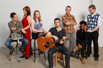 Zack Amzallag, Stephanie Bitten, Elizabeth Tanner, Enzo Voci, Colin Murphy, Aisha Bentham, and Wesley J. Colford - photo by Madeline Haney