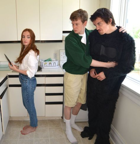 Left to Right: Charlotte Boyer as Beth William MacKenzie as Robert Sr. Shawn Steinmann as The Gorilla