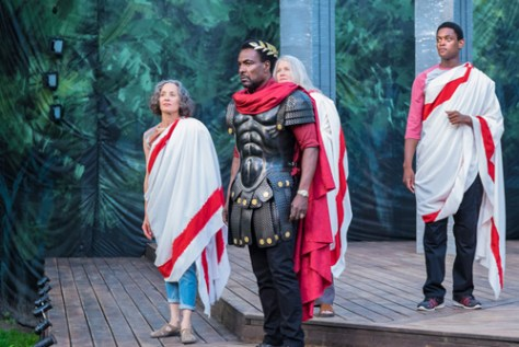 Photo from Canadian Stage's Julius Caesar as part of Shakespeare in High Park