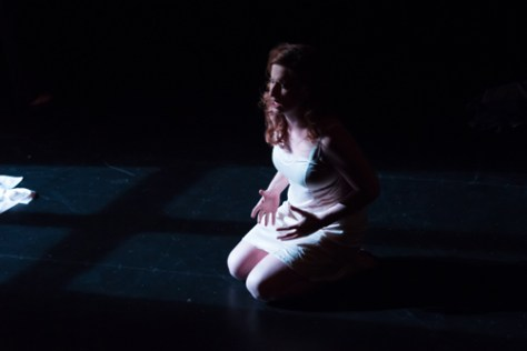 Photo of Christina Campsall as Lucretia. Photo by William Ford Photography