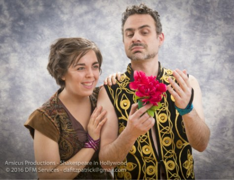Photo of Kristine MacDonald and Chris Coluluzzi in Shakespeare in Hollywood by Dave Fitzpatric