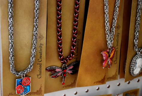 photo of necklaces