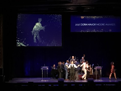 Photo of Raoul Bhaneja hosting the 2017 Dora Mavor Moore Awards