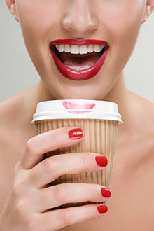 Photo of woman with latte