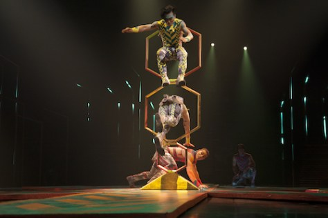The cast of Cirque du Soleil's VOLTA