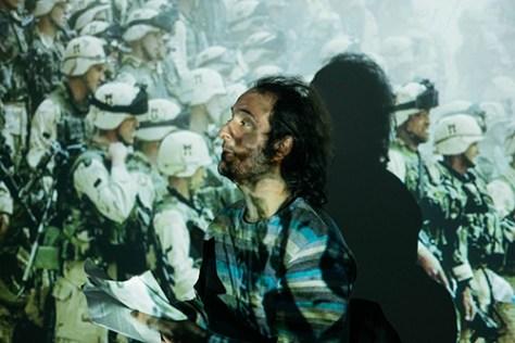 """photo of Nicolas Royer-Artuso in 4'33"""" in Baghdad by Ülfet Sevdi"""
