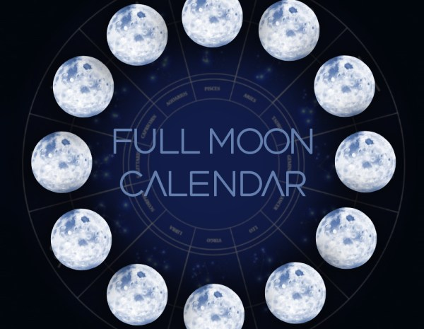 2018 Full Moons and New Moons