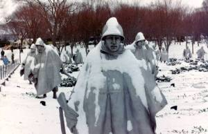 korean war in snow