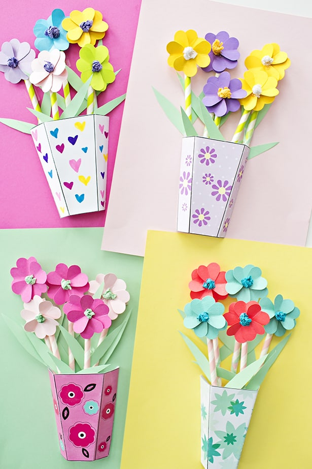 Kids Take N Make Mother S Day Paper Bouquets Moon Township Public