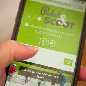 Pedal and Scoot responsive website
