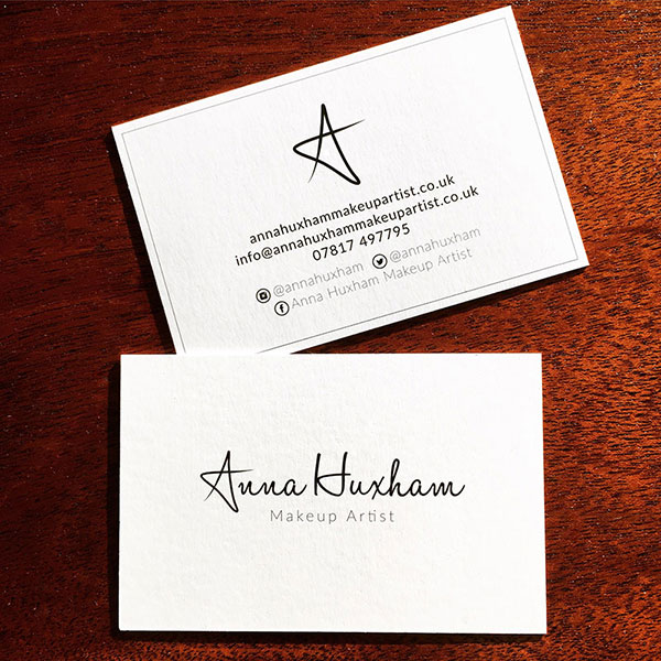 Anna Huxham - Makeup Artist - Business Cards