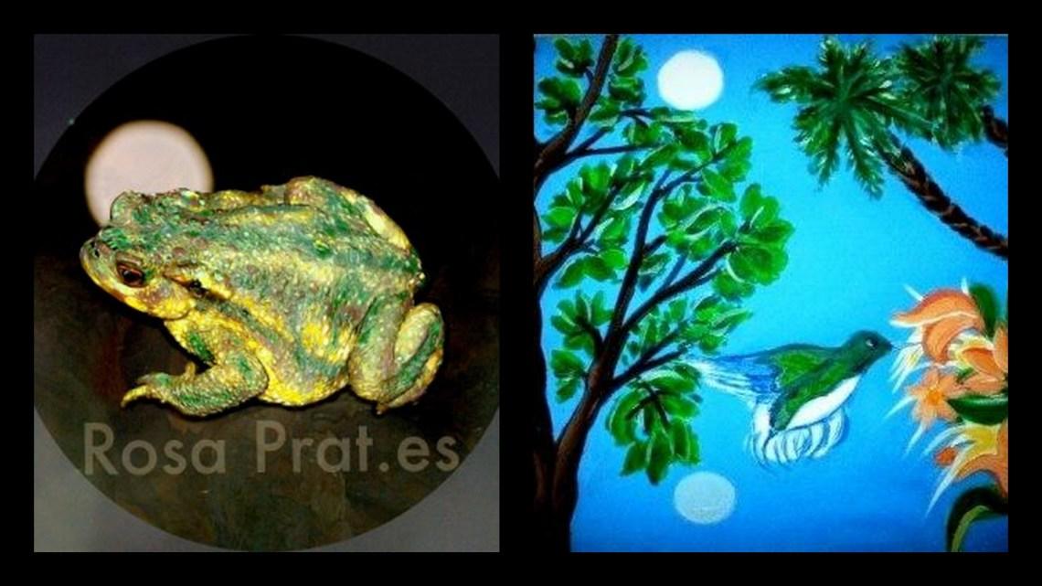 Selene y el sapo. Collage