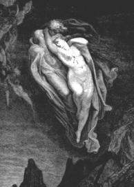 El beso de Rodin. Francesca y Paolo en el infierno.