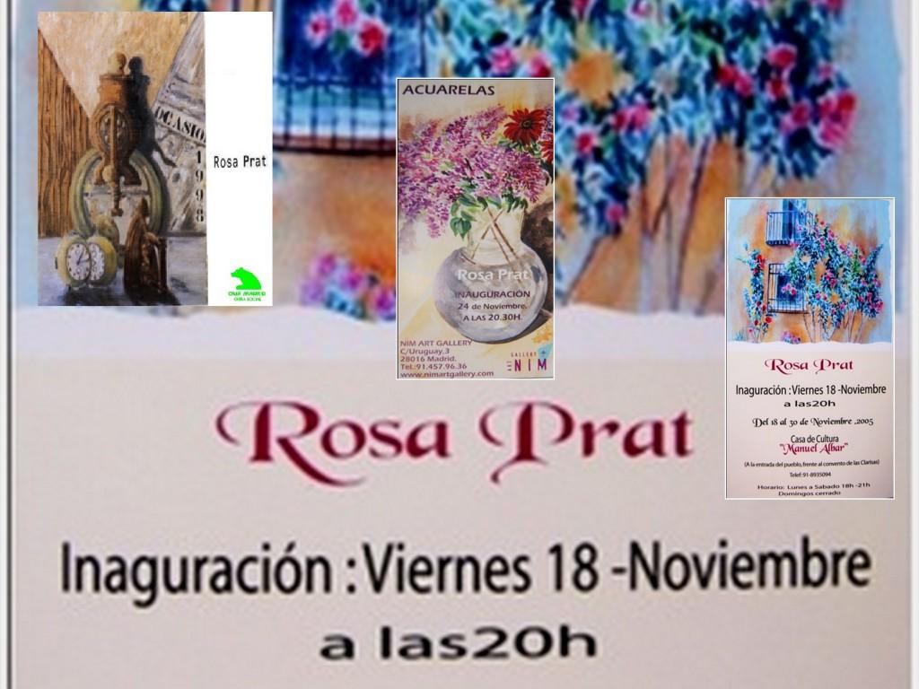 Acuarelas Rosa Prat. Exposiciones