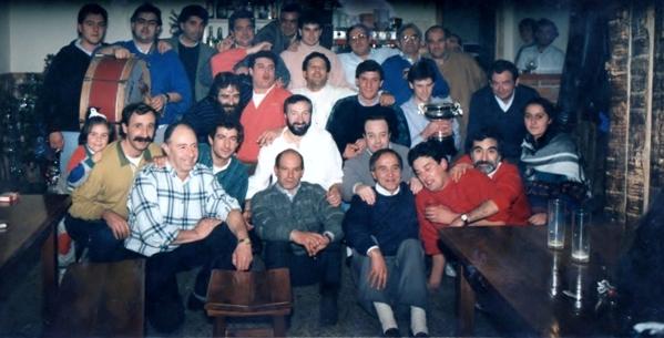 Urnieta y Xabier Lete. Cena- Homenaje Final de Campeonato de Remonte Noain Aguirre – Elizalde II – Múgica II Huarte (Pamplona) 26-XII-88