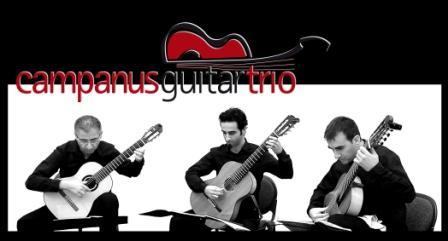 Cosimo Antitomaso. Campanus Guitar Trio. Formación de música de cámara compuesta por los guitarristas Cosimo Antitomaso, Gianluca D'Alessandro y Gianluca Alloca.
