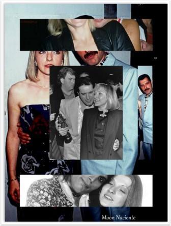 Veintitrés años sin Freddie Mercury. Cuarto aniversario de MoonMagazine. Freddie y Mary diseño de Moon Naciente