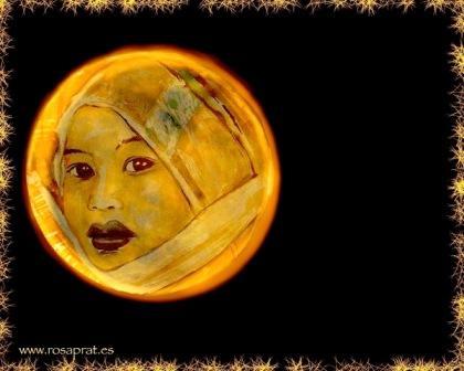Lúa, luna. Lúa amarela de Rosa Prat