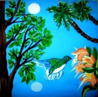 Selene y el sapo. Pájaro selenítico. Cuadros de una Aficionada.