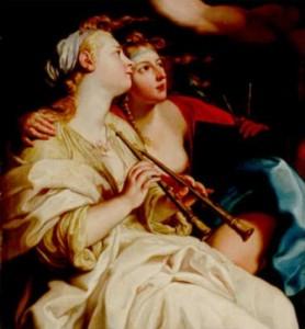 Cosimo Antitomaso. Campanus Guitar. Trio Euterpe,  Musa de la música, de Battoni