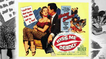 El Beso Mortal. Kiss Me Deadly. Cartel.