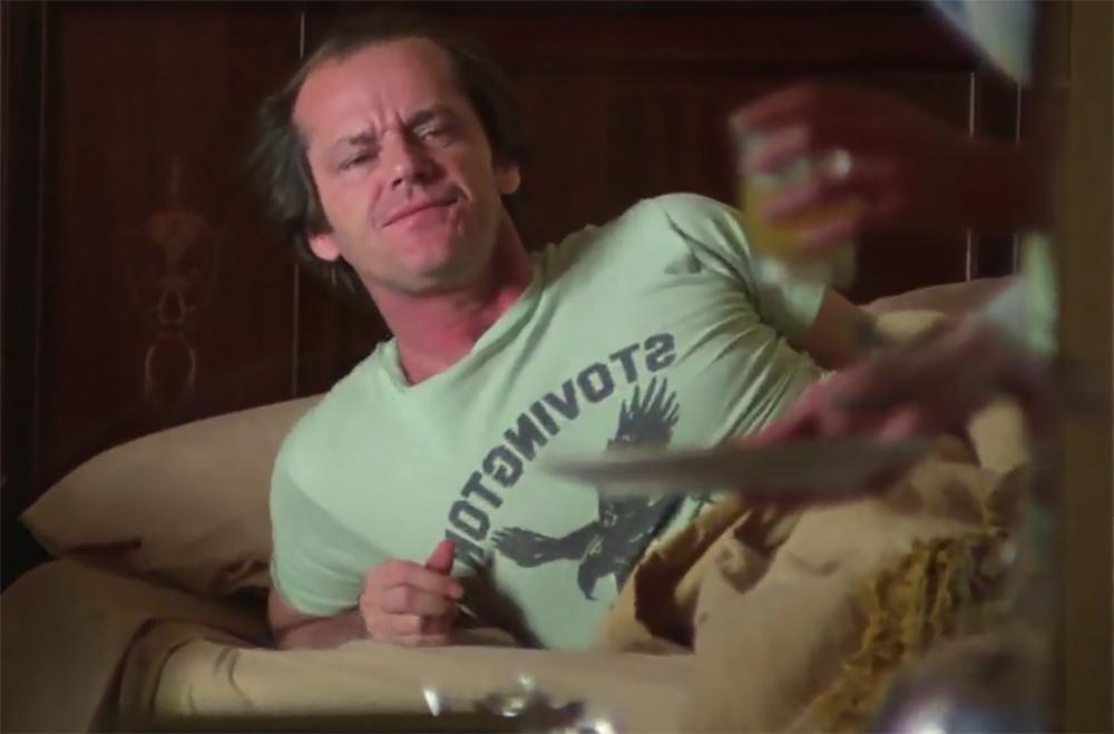 El Resplandor. Treinta y cinco años de la película de Kubrick. El águila en la camiseta de Jack simboliza algo.