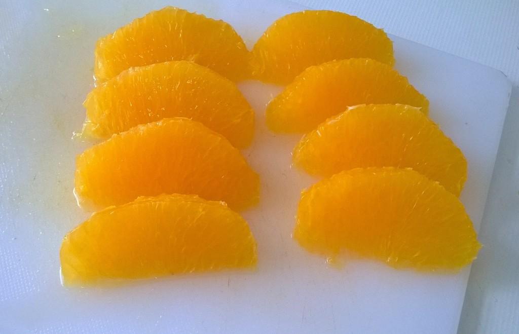 Ensalada de Txangurro. Gajos de naranja.