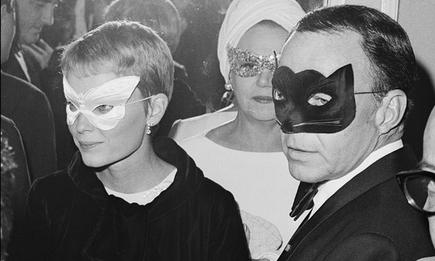 Mia Farrow and Frank Sinatra at Truman Capote's 1966 Black and White Ball. Photograph: Bettmann/Corbis