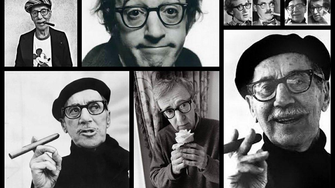 Groucho Marx y Woody Allen. Ídolos, esos seres terrenales. Collage de MoonMagazine.