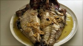 Besugo al horno. Un plato festivo y sabroso. Un plato del cocinero donostiarra, Iñaki Rodríguez.