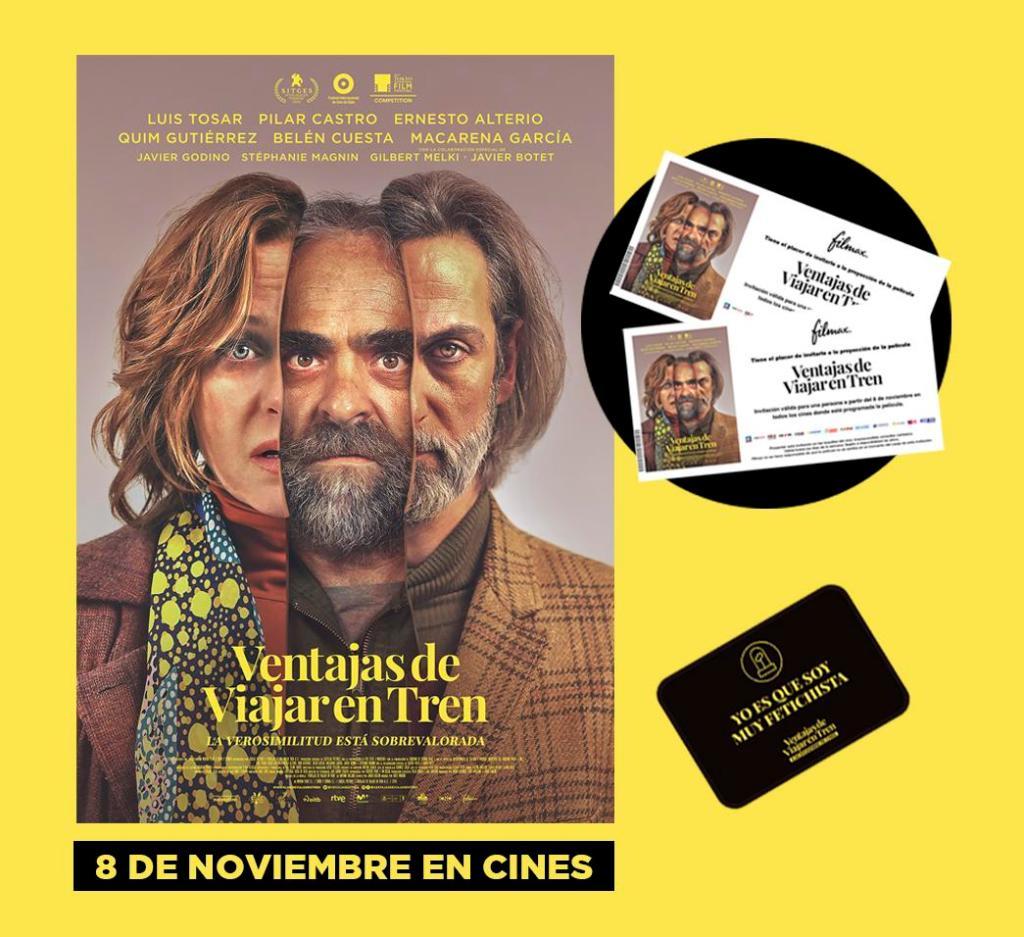 Participa y gana estos regalos exclusivos de la película Ventajas de viajar en tren