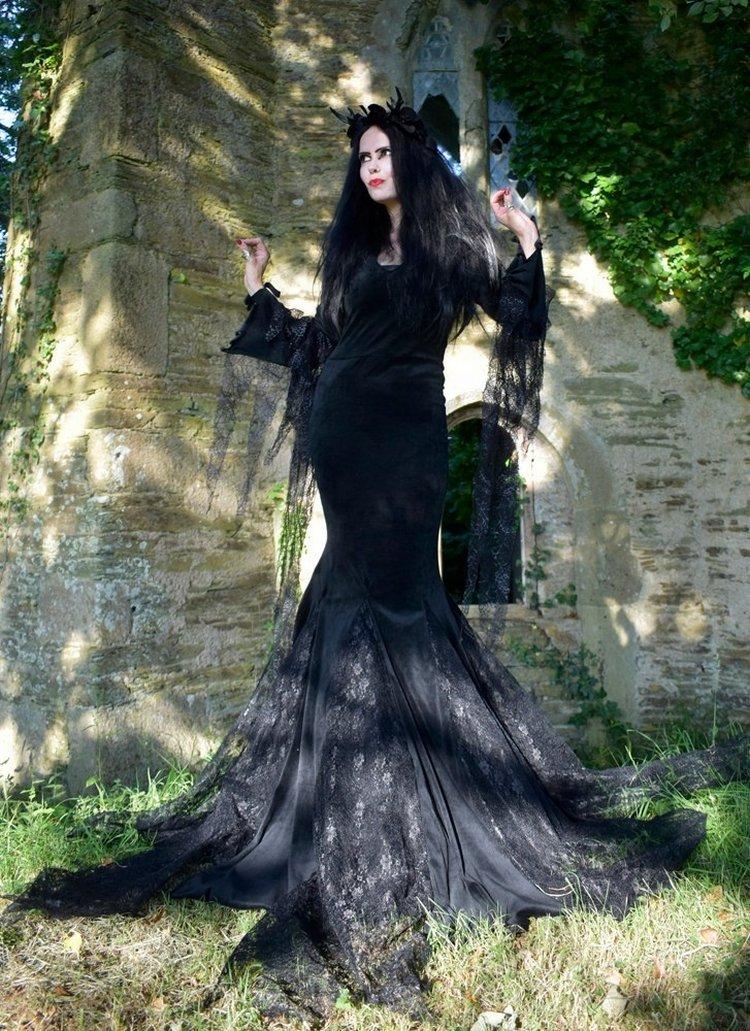 Morticia Addams Gown The Classic Anjelica Huston Movie