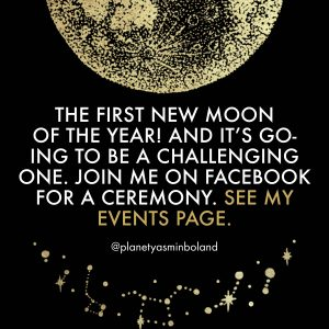 The first new Moon of the year