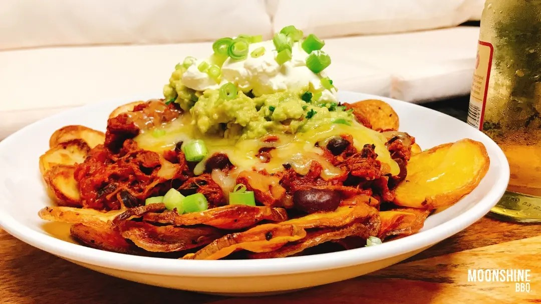 Brisket Nachos with Chilli Salt Potatoes