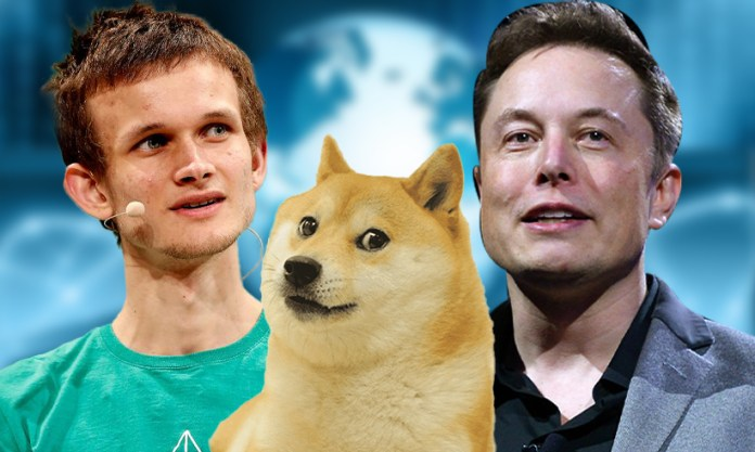 Musk says Dogecoin can beat Bitcoin and Ethereum co-founder criticizes