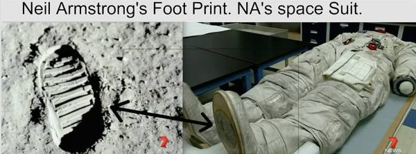 Neil Armstrongs Footprint On The Moon 0425