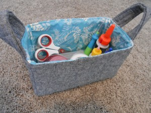 Fabric Basket in Use