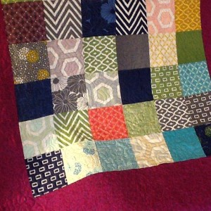 James' first quilt using a Moda Simply Style charm pack