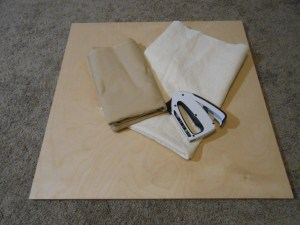 Pressing board supplies wood batting muslin staple gun