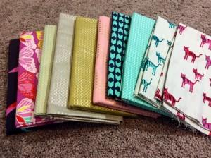 Cotton and Steel yard cuts fabric stash modern