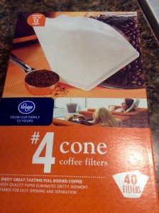 Kroger Brand 4 cone coffee filters