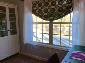 Craft room window wide shot