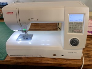 Janome 7700 qcp sewing machine wide on