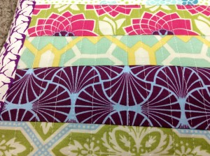 Patchwork Zipper Pouch Close up