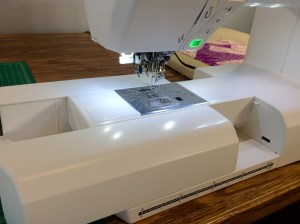 Janome 7700 qcp sewing machine sliding off attachment
