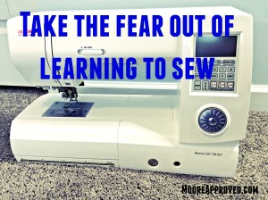 Take the fear out of learning to sew